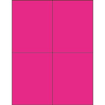 "Tape Logic® Rectangle Laser Labels, 4 1/4"" x 5 1/2"", Fluorescent Pink, 400/CS"