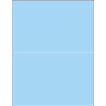 "Tape Logic® Rectangle Laser Labels, 8 1/2"" x 5 1/2"", Pastel Blue, 200/CS"