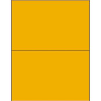 "Tape Logic® Rectangle Laser Labels, 8 1/2"" x 5 1/2"", Fluorescent Orange, 200/CS"