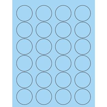 """Tape Logic® Circle Laser Labels, 1 5/8"""", Pastel Blue, 2400/CS"""