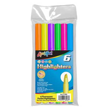 Liqui-Mark® Brite Spots® Pocket Highlighters, Assorted, 6/PK