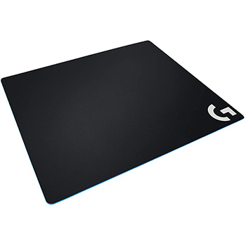 Logitech® Large Cloth Gaming Mouse Pad - Textured - Black