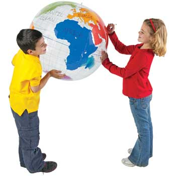 Learning Resources® Inflatable Labeling Globe