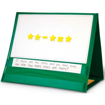 Double-Sided Write & Wipe Magnetic Demonstration Tabletop Pocket Chart