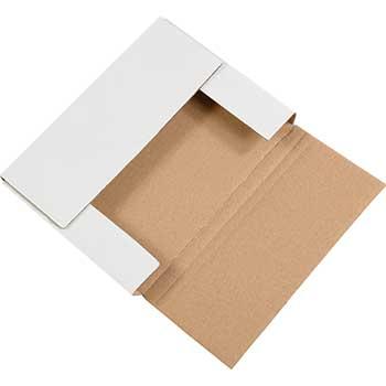 "W.B. Mason Co. Easy-Fold mailers, 11 1/8"" x 8 5/8"" x 2"" White, 50/BD"