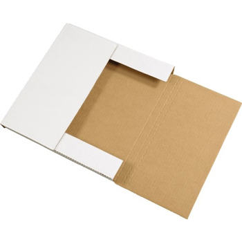"W.B. Mason Co. Easy-Fold mailers, 24"" x 24"" x 2"", White  20/BD"
