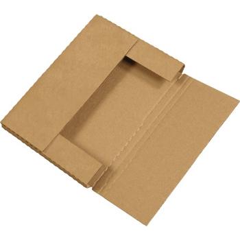 "W.B. Mason Co. Easy-Fold mailers, 12 1/8"" x 9 1/8"" x 1"", Kraft, 50/BD"