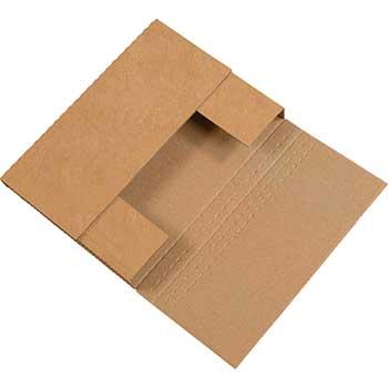 "Easy-Fold mailers, 12 1/8"" x 9 1/8"" x 3"", Kraft, 50/BD"