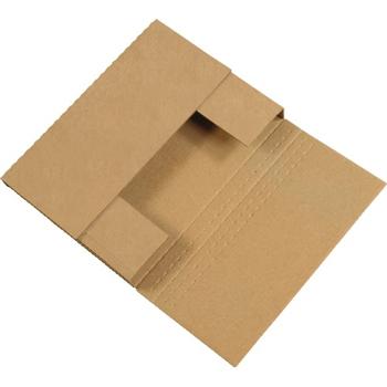 "W.B. Mason Co. Easy-Fold mailers, 12 1/8"" x 9 1/8"" x 2"", Kraft, 50/BD"