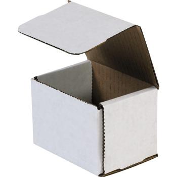 "W.B. Mason Co. Corrugated mailers, 4"" x 3"" x 3"", White, 50/BD"