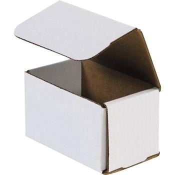 "W.B. Mason Co. Corrugated mailers, 5"" x 3"" x 3"", White, 50/BD"