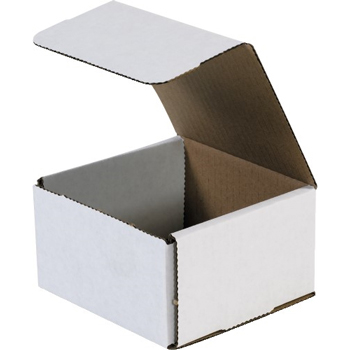 "Corrugated mailers, 5"" x 5"" x 3"", White, 50/BD"
