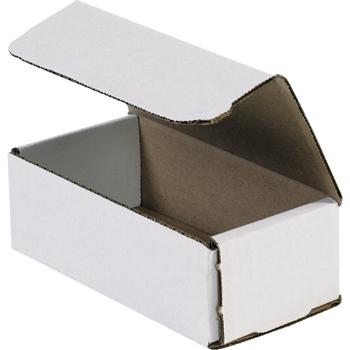 "W.B. Mason Co. Corrugated mailers, 12"" x 6"" x 4"", White, 50/BD"