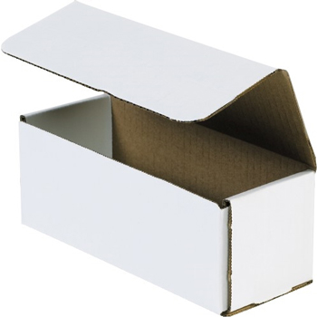 "W.B. Mason Co. Corrugated mailers, 8"" x 3"" x 3"", White, 50/BD"