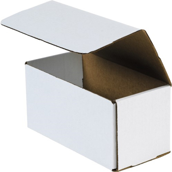 "Corrugated mailers, 9"" x 5"" x 5"", White, 50/BD"