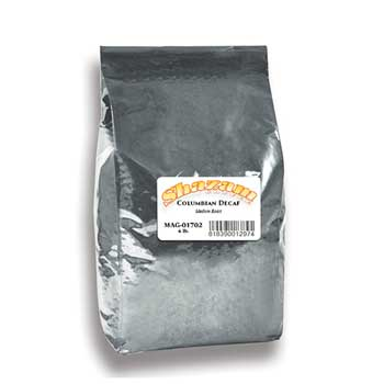 Shazam™ Whole Bean Coffee, Colombian Decaf, 5 lb. Bag, 2/CT