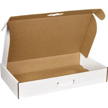 "W.B. Mason Co. Corrugated Carrying Cases, 20"" x 11 3/8"" x 5 1/2"", White, 10/BD"