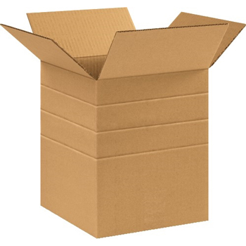 """W.B. Mason Co. Multi-Depth Corrugated boxes, 10"""" x 10"""" x 12"""", Kraft, 25/BD"""