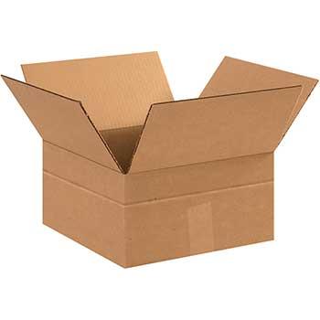 """W.B. Mason Co. Multi-Depth Corrugated Boxes, 12"""" x 12"""" x 4"""", Kraft, 25/BD"""