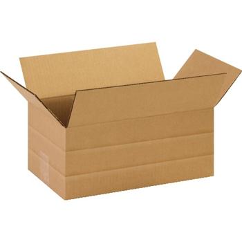 """W.B. Mason Co. Multi-Depth Corrugated boxes, 14"""" x 8"""" x 6"""", Kraft, 25/BD"""
