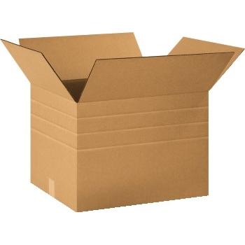 """W.B. Mason Co. Brown Corrugated - Multi-Depth boxes, 11 1/4""""l x 8 3/4""""w x 6""""h, 20/Bundle"""
