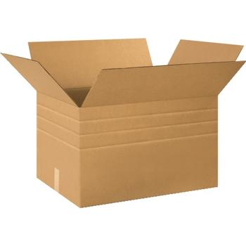"""W.B. Mason Co. Multi-Depth Corrugated boxes, 24"""" x 18"""" x 18"""", Kraft, 15/BD"""