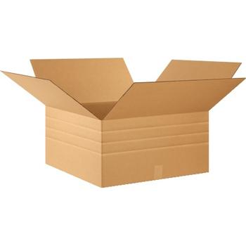 """W.B. Mason Co. Multi-Depth Corrugated boxes, 24"""" x 24"""" x 12"""", Kraft, 20/BD"""