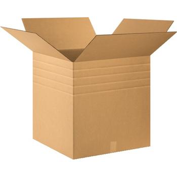 "Multi-Depth Corrugated boxes, 24"" x 24"" x 24"", Kraft, 10/BD"