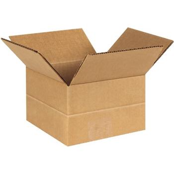 """W.B. Mason Co. Multi-Depth Corrugated boxes, 6"""" x 6"""" x 4"""", Kraft, 25/BD"""