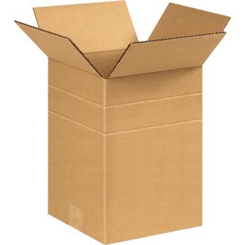 """W.B. Mason Co. Multi-Depth Corrugated boxes, 8 1/2"""" x 8 1/2"""" x 12"""", Kraft, 25/BD"""