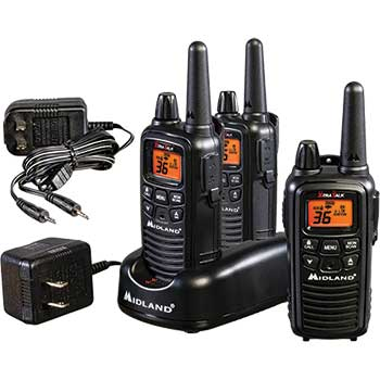 Two-Way Radio 3-Pack, 1W, 22 Channels