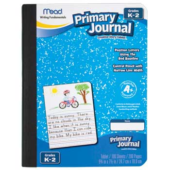 """Primary Picture Story Journal, 7 1/2"""" x 9 3/4"""", 100 Sheets, 200 Pages"""