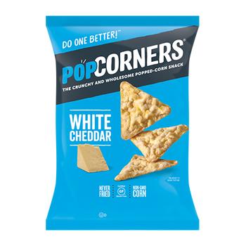 PopCorners® White Cheddar Popped-Corn Chips, 1.0 oz., 64/CS