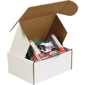 "W.B. Mason Co. Deluxe Literature mailers, 12 1/8"" x 9 1/4"" x 5"", White, 50/BD"