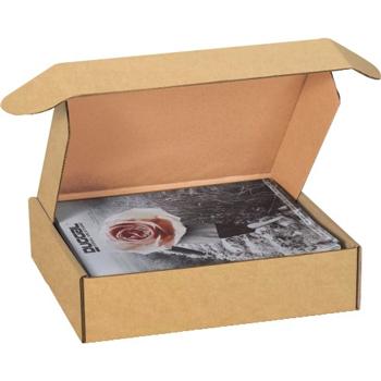 "W.B. Mason Co. Deluxe Literature mailers, 12 1/8"" x 9 1/4"" x 2"", Kraft, 50/BD"