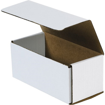 """Corrugated mailers, 11"""" x 4"""" x 4"""", White, 50/BD"""