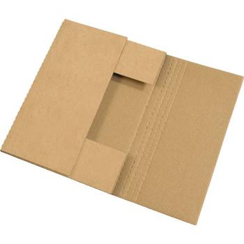 "W.B. Mason Co. Easy-Fold mailers, 20"" x 16"" x 2"", Kraft, 50/BD"