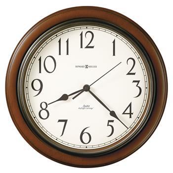 "Howard Miller® Talon Auto Daylight-Savings Wall Clock, 15 1/4"", Cherry"