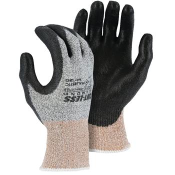 Majestic Dyneema® Seamless Diamond Knit Glove, EN Cut Level 5, Polyurethane Coated Palm, Ansi Level A3, Large, 12 PR/DZ