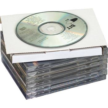"""W.B. Mason Co. CD mailers, 5 5/8"""" x 5"""" x 7/16"""", White, 50/BD"""