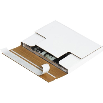 """Self-Seal CD mailers, 5 7/8"""" x 5 1/16"""" x 1/2"""", White, 200/BD"""