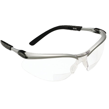 3M™ BX™ Reader Protective Eyewear, Clear Lens, Silver Frame, +2.0 Diopter