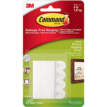 "Command™ Picture Hanging Removable Interlocking Fasteners, 5/8"" x 1 3/8"", Set of 4"