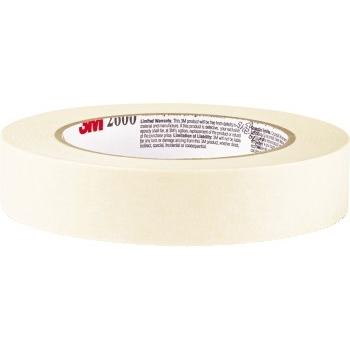 """Highland™ Economy Masking Tape, 1/2"""" x 60yds, 3"""" Core, Cream, 72/CT"""