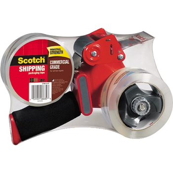 "Scotch™ Packaging Tape Dispenser with 2 Rolls of Tape, 1.88"" x 54.6yds, 2/Pack"