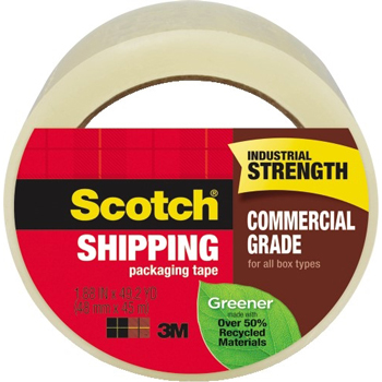 "Greener Commercial Grade Packaging Tape, 1.88"" x 49.2 yd, 3"" Core"