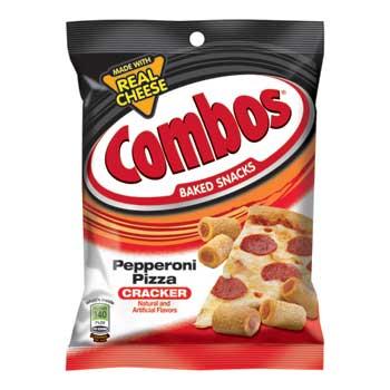 Combos® Baked Snacks, Pepperoni Pizza Cracker, 6.3 oz. Bag, 12/CS
