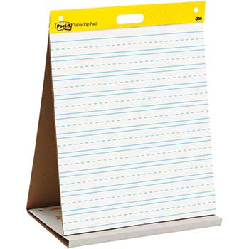 3M™ Tabletop Easel Pad, 20 in x 23 in, White with Primary Lines, 20 Sheets, 6 PD/CT