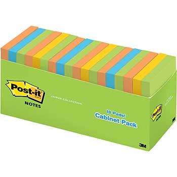 Original Pads in Jaipur Colors Cabinet Pack, 3 x 3, 100-Sheet, 18/Pack