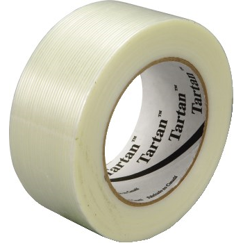 """8934 Filament Tape, 3/4"""" x 60yds, 3"""" Core, 4 Mil, Clear, 48 CT/RL"""